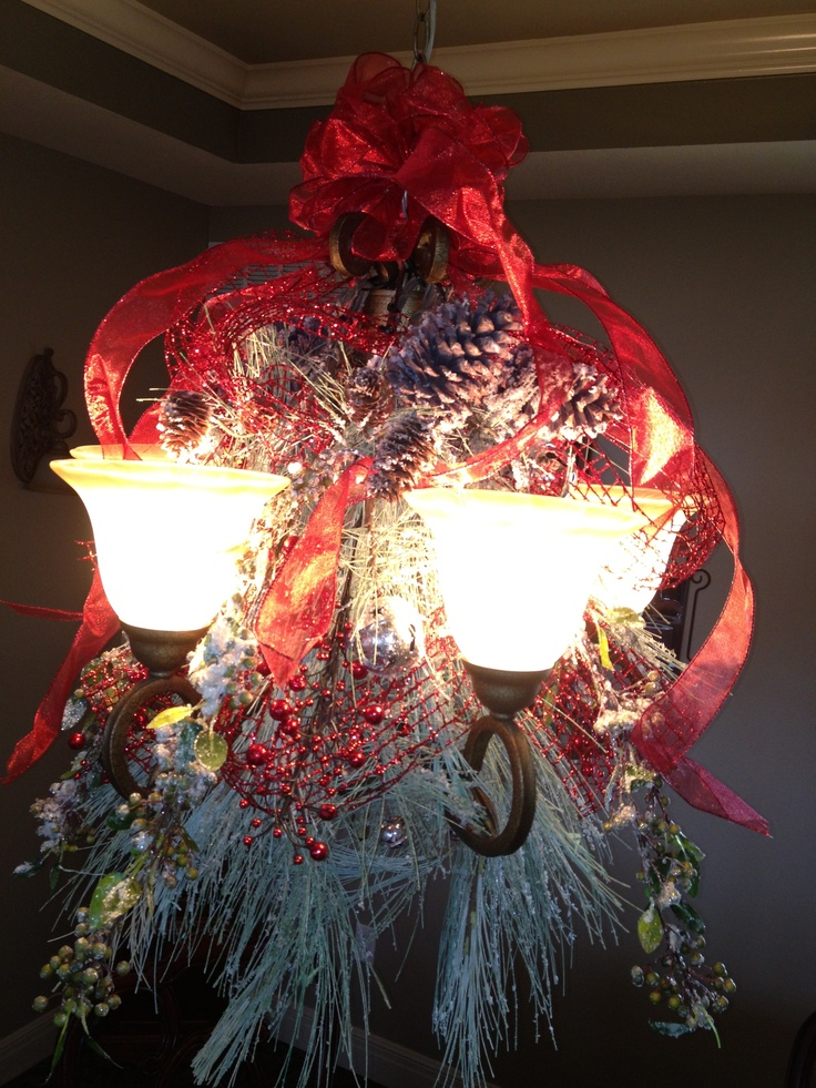 Light Fixture Decorations. Easy To Do! Just Go To Hobby Lobby And Buy A