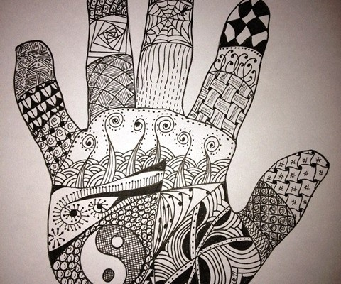Zentangle Hand (Karl Pearce's Hand!)