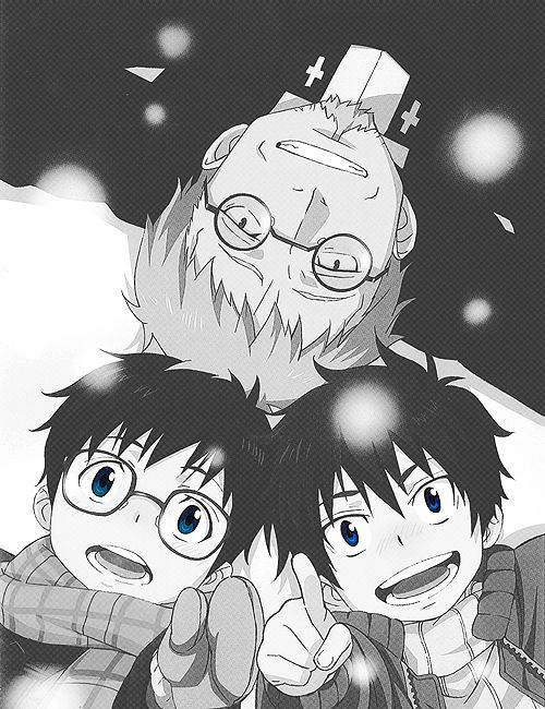 Ao no exorcist | Blue exorcist | 青の祓魔師 (Ao no Futsumashi) <3 Rin, Yukio and Shiro *-*