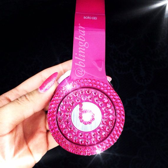 Bling Beats By Dre solo HD headphones on Etsy, $250.00