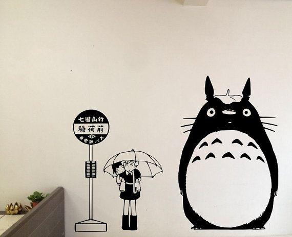 My Neighbor Totoro bij stopbord met Satsuki and door OneDesignArt