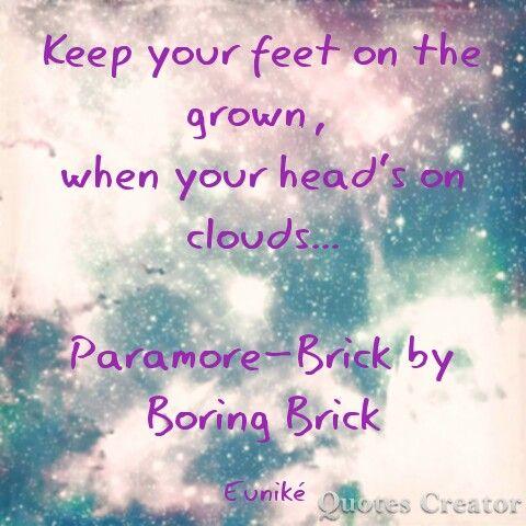 Paramore-Brick by boring brick. By: Euniké