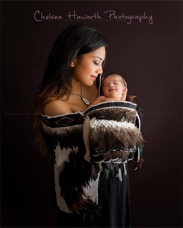 Mother and son in māori korowai photoshoot by chelsea haworth