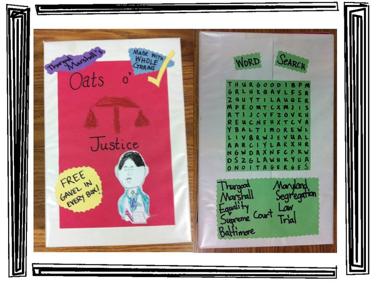 Black History Month Cereal Box Biography With Rubric Biography