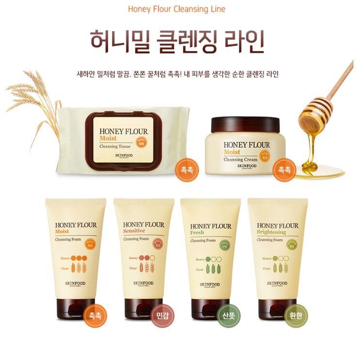Kết quả hình ảnh cho skinfood honey flour cleansing foam review