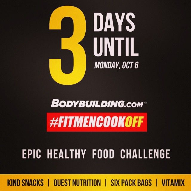 Hey y'all! I know I've been out of pocket in ATL (Atlanta) finalizing details for my book #NoCheatsNeeded and I'll be back in action on Monday. BUT, had to let you know of an epic food challenge that kicks off on Monday with @bodybuildingcom. My largest giveaway ever and you won't want to miss it so stay tuned! #FitMenCookOFF! Boom. (traduccion abajo) Hola a todos! Sé que no he podido montar fotos porque estoy en ATL (Atlanta) finalizando detalles para mi libro #NoCheatsNeeded pero voy a…