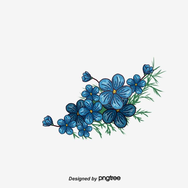 Painted Blue Flower Blue Flower Blue Vector Png Transparent Clipart Image And Psd File For Free Download Blue Flower Painting Vector Flowers Blue Flower Png