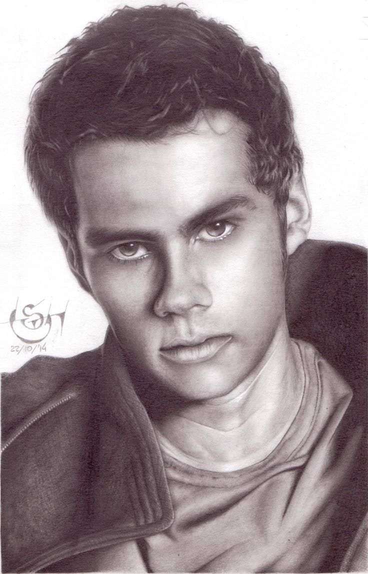 "Drawing actor Dylan O'Brien, star of TV Series ""Teen Wolf"" (Stiles Stilinski) and star of ""The Maze Runner"" (Thomas)."