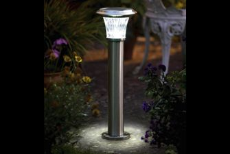 Roma Solar Garden Light - £49.99  One of the brightest solar garden lights around, with a 7m light pool. Turns on automatically at dusk, attractive and great for safety.