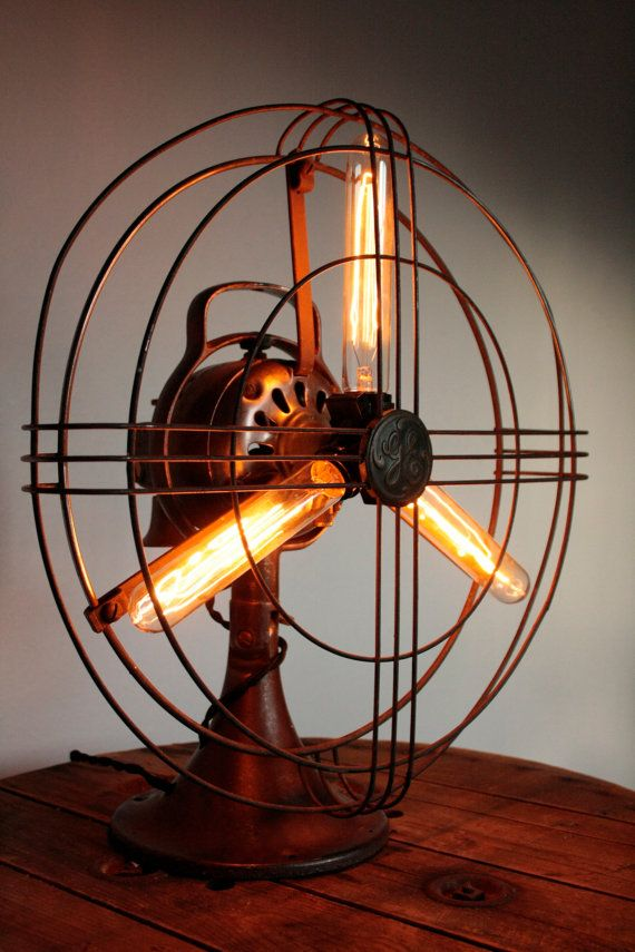 Vintage GE Fan Lamp by ThePigAndWhistle on Etsy