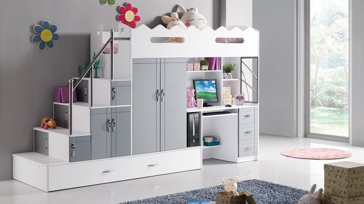 comment am nager un lit mezzanine pour une petite fille lits mezzanine mezzanine et chambres. Black Bedroom Furniture Sets. Home Design Ideas