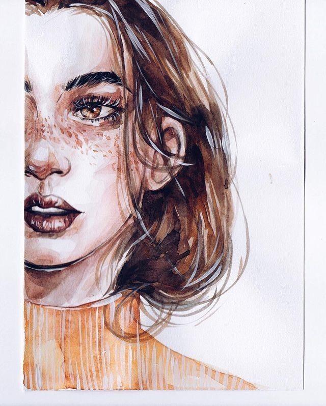 Pin Von Marianna Perez Auf Marianna Aquarell Gesicht