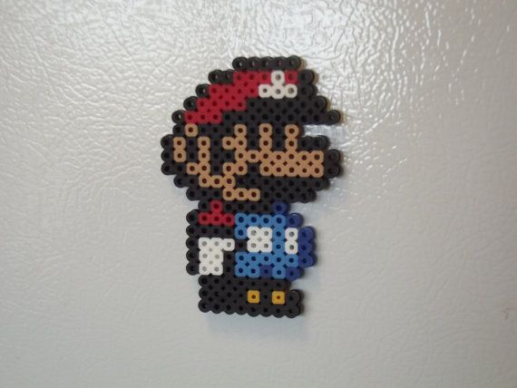 Little Mario Perler Bead Magnet Sprite by MitchellPaulCrafts, $5.00
