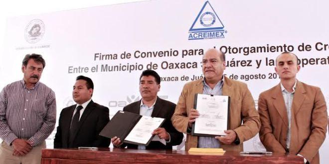 Oaxaca Digital | Municipio de Oaxaca y Acreimex otorgan créditos por 100 mdp