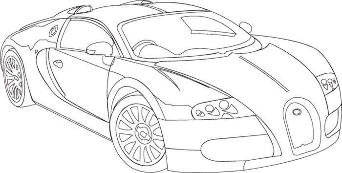Beautiful Bugatti Veyron Coloring Page | Bugatti | Pinterest