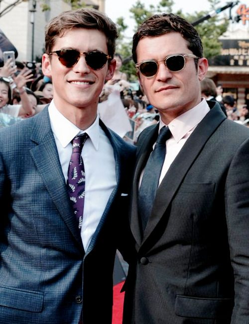 3de9173d5522 Brenton Thwaites and Orlando Bloom attending the Shanghai world premiere of  Pirates of the Caribbean: Dead Men Tell No Tales, on May 11, 2017.