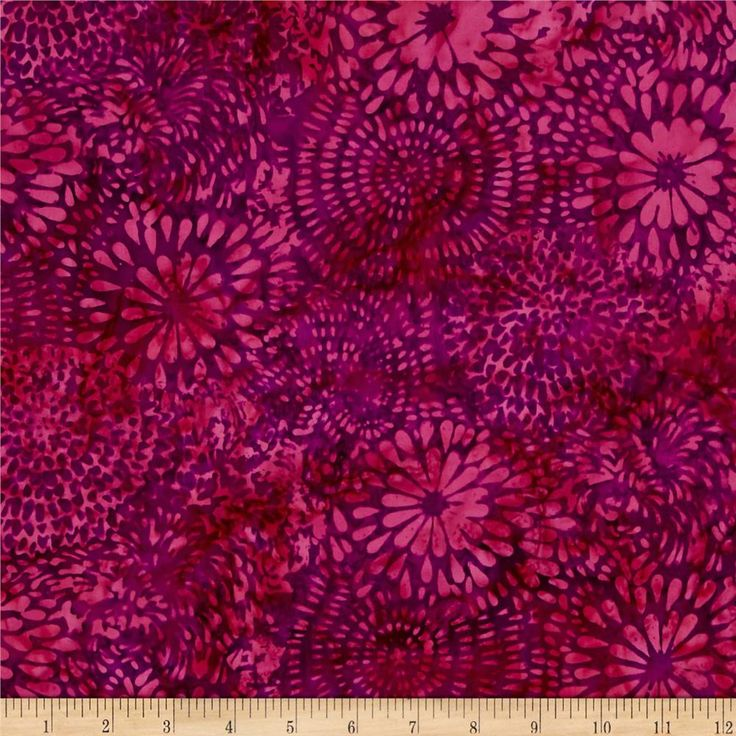 Island Batik Desert Rose Mixed Mums Purple/Fushcia from @fabricdotcom  Designed…