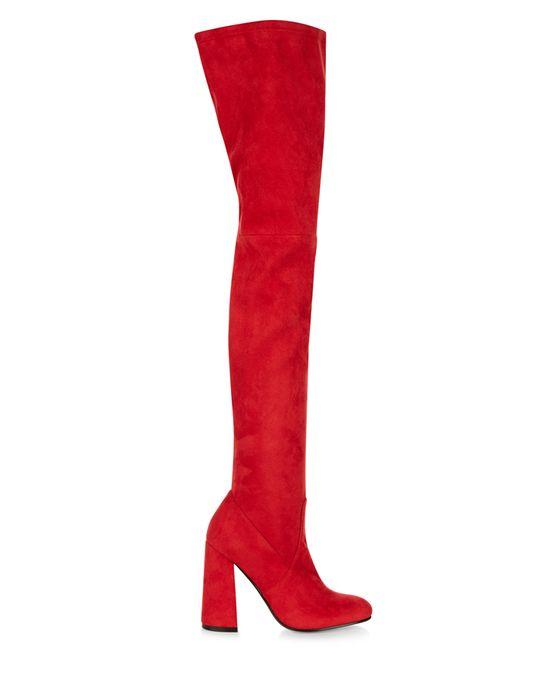 Cuissardes rouges à talons, New Look, 44,99 €.