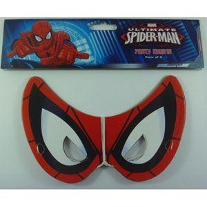 1078 - Spiderman Masks. Pack of 8 Spiderman Ultimate Masks - Pack of 8