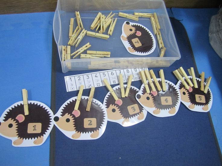 Clothespins counting