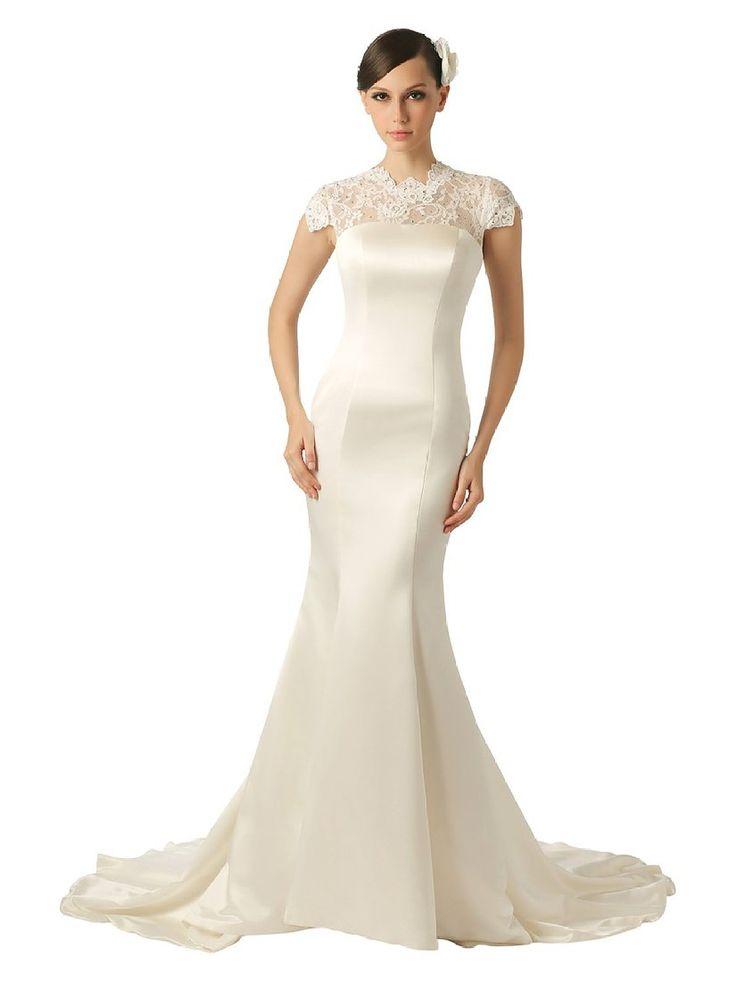 Amazon.co.jp: Topwedding(トップウェディング) サテン と レースの花嫁衣装/ウェディングドレス, : 服&ファッション小物通販