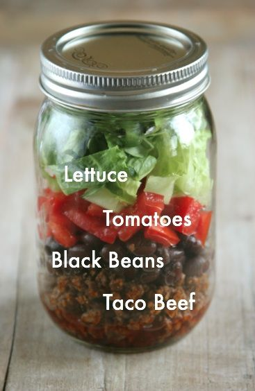Taco Salad Jars | Daily Bites | Healthy Gluten-Free + Dairy-Free Recipes
