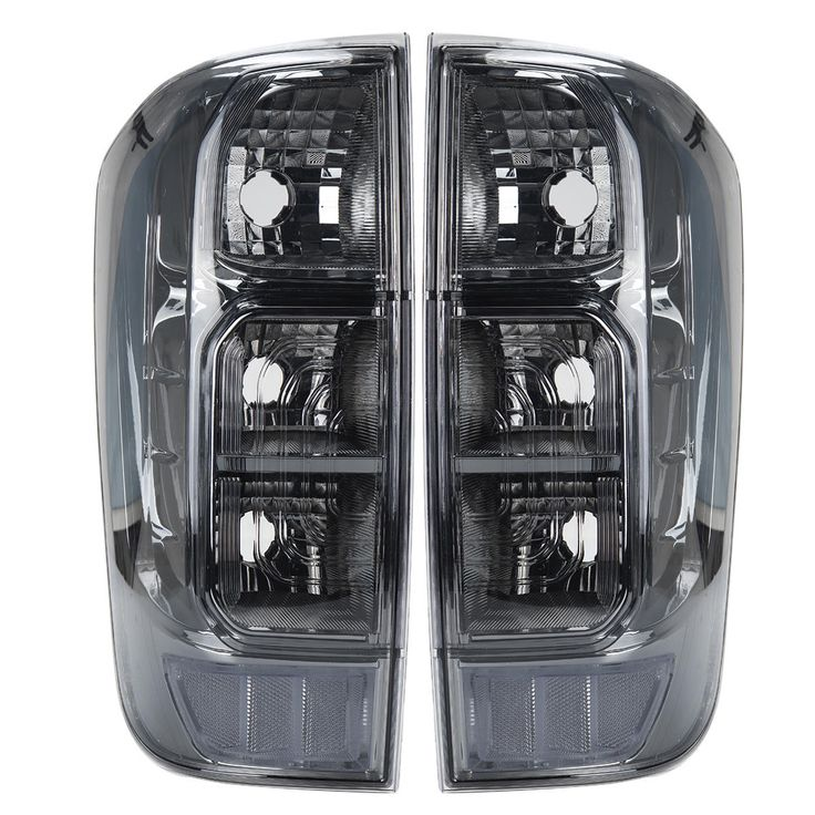 Fits 00-04 Frontier Pickup Truck Red Clear Tail Lights Brake Lamps Replacement
