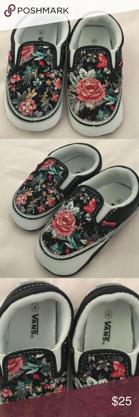 Infant girl floral Vans size 4 Floral slip on infant girl Vans size 4 Vans Shoes Baby & Walker