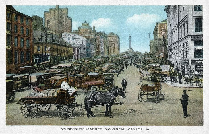 File:Place Jacques-Cartier, Montreal Quebec Old Postcard.jpg