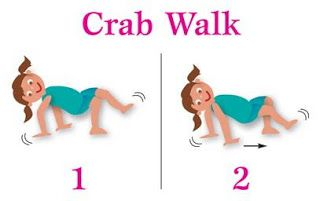 Crab walk relay- activity for under the sea week, crab craft day....