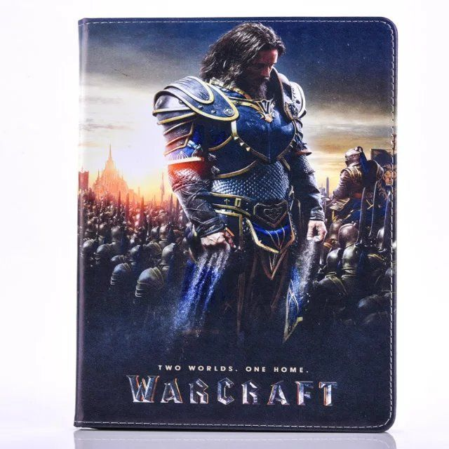 Newest Warcraftt Pattern Case for iPad Mini 3 2 1 Folding Flip PU Leather Stand Cover Case for Coque Fundas iPad Mini 3 2 1