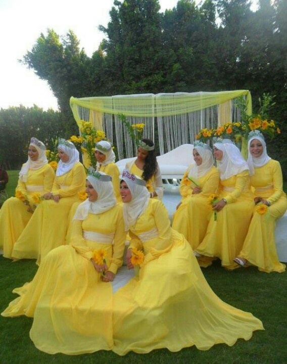 Muslim bridesmaids... Egypt-Cairo