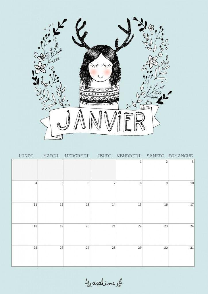 Calendrier 2016 Gratuit sur Pinterest | Calendrier gratuit 2016 ...