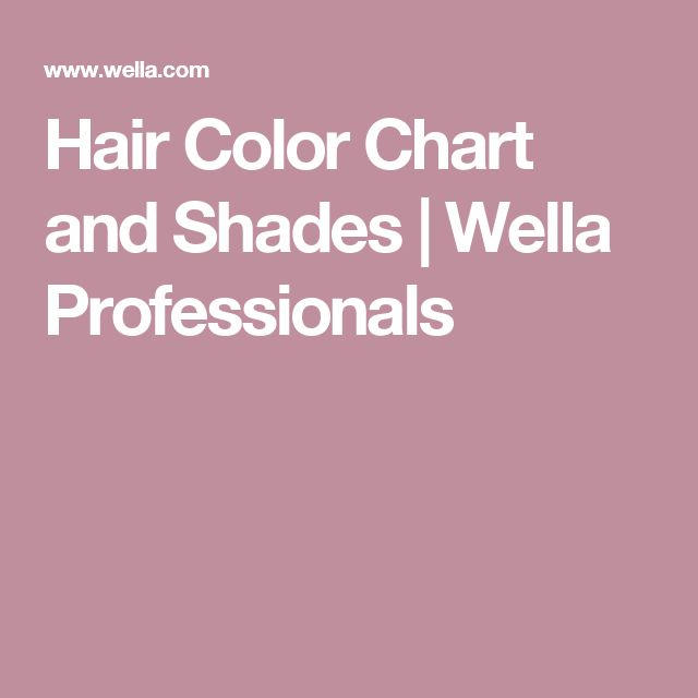 Hair Color Chart and Shades  | Wella Professionals