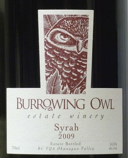 B.C. wine of the week: Burrowing Owl Syrah 2009, Oliver, Okanagan Valley, British Columbia,