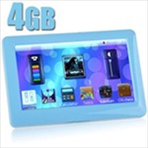 """4GB 4.3"""" TFT LCD Touch MP5 Player+ Music+ Movie+ FM+ Recorder+ Game+ Alarm+ Photo+ Ebook+ TV-OUT - Blue"""
