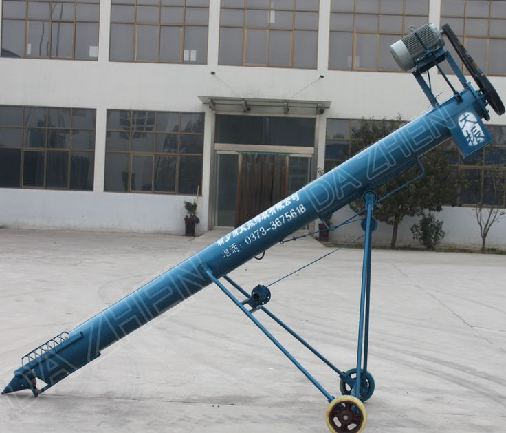 A grain auger conveyor for grain lifting, bagging, truck loading...