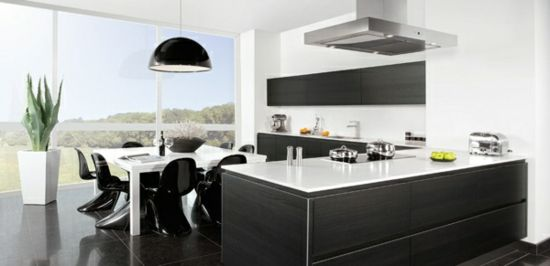 Modern kitchen island. Pronorm collection