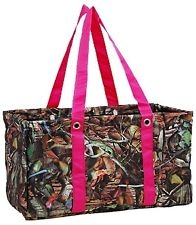 PINK CAMO Camouflage Large UTILITY TOTE Beach Laundry Basket Market Picnic Bag