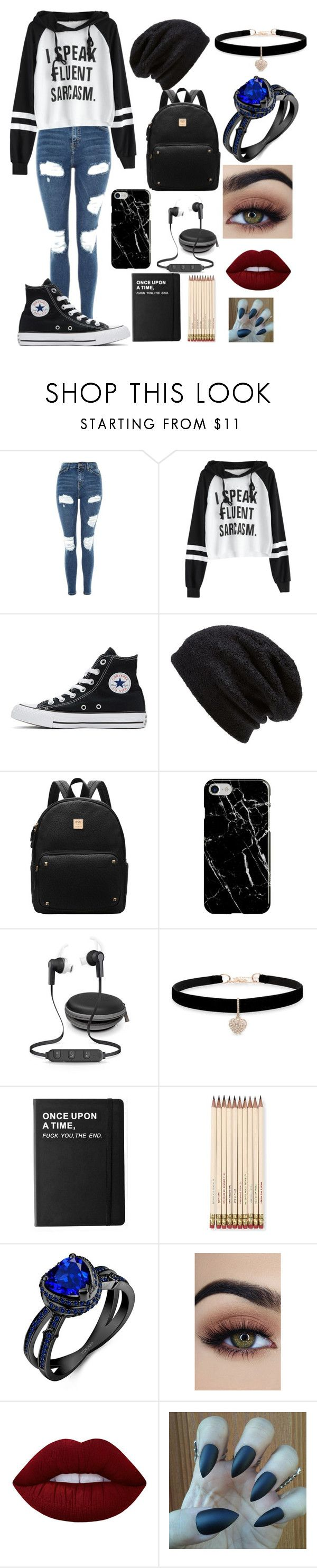 """:))"" by aesthetic-fashion on Polyvore featuring Topshop, Converse, Barefoot Dreams, Recover, Betsey Johnson, Killstar, Kate Spade and Lime Crime"