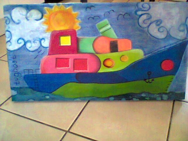 Blocked on wooden canvas 600 x 300 mm. ZAR300.00 excluding p+p. USD30.00.