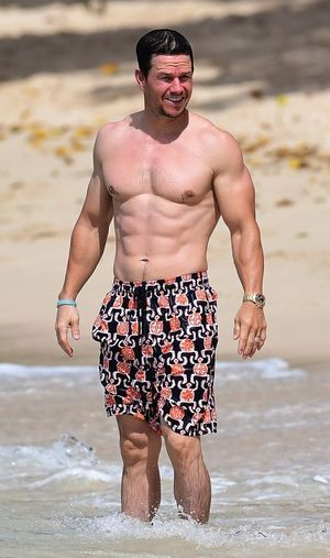 Mark Wahlberg showing off his amazing abs as he vacations in Barbados