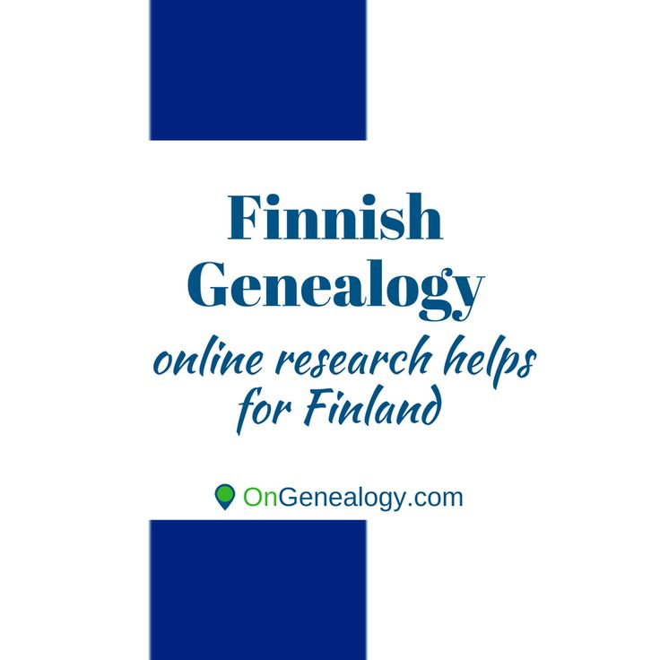 Finnish Genealogy resources, maps, history, blogs, and helps for family history research in Finland.