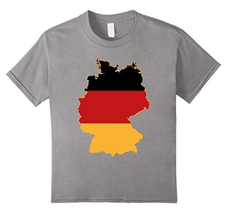 Men's Germany Flag Map Deutschland Flagge Karte Tee T-Shirt