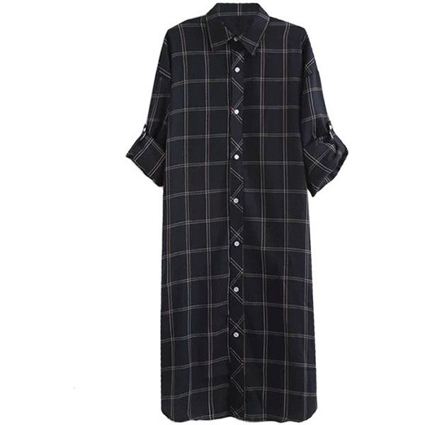 Daisy Mae Maxi Shirt Dress (€29) ❤ liked on Polyvore featuring dresses, grey, long shirt dress, gray shirt dress, shirt-dress, grey dress und gray maxi dress