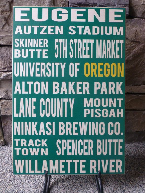 Eugene Oregon Wall Sign by LilBeansLove on Etsy, $39.00