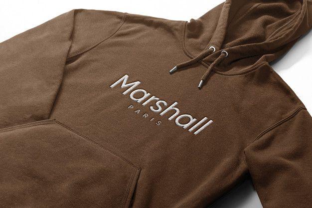 Download Embroidered Logo Mockup In Hoodie