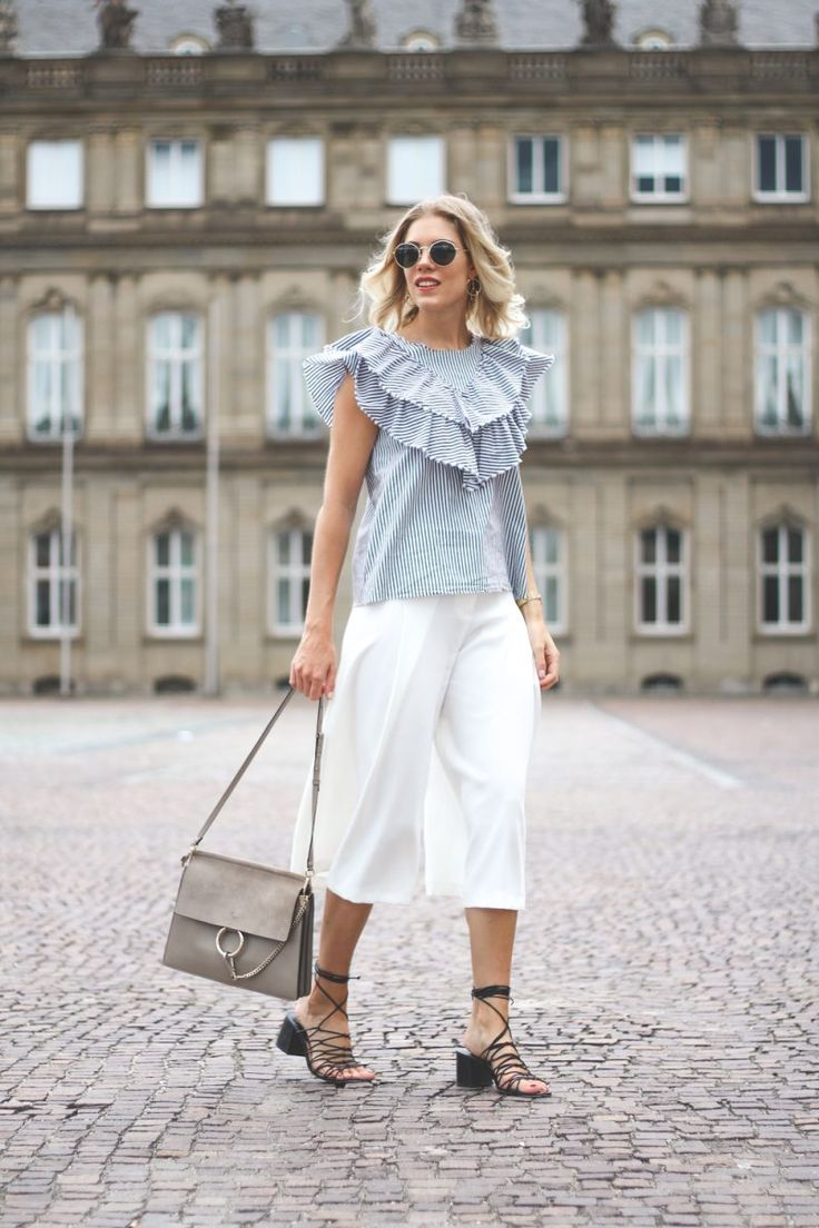 street style, summer outfit, culottes, summer trend 2017, Chloé Faye, outfit, inspiration, Blogger styles