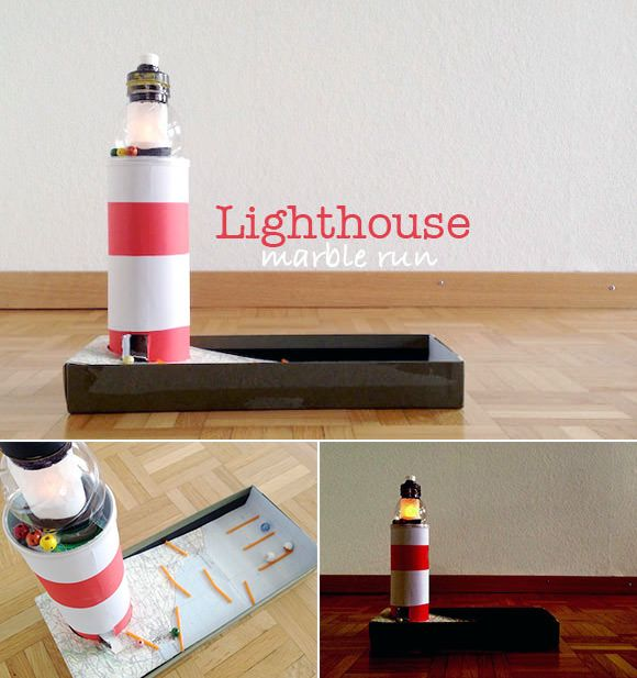 DIY Lighthouse Marble Run (with working light!)