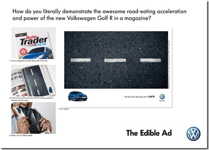 Edible ad for the VW Golf R